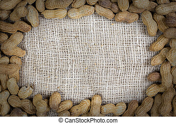 Frame made of peanuts