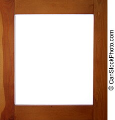 frame madeira, com, branca, espaço cópia