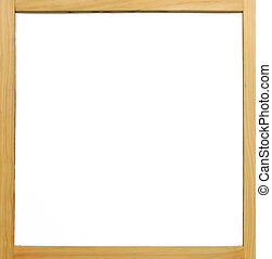 frame madeira, junta branca
