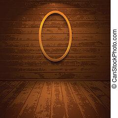 frame madeira, sala, elíptico