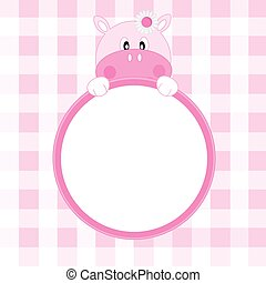 frame, meisje, nijlpaard