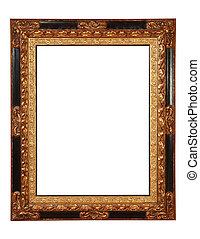 frame, met, knippend pad