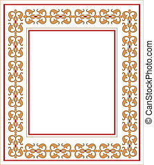 frame, met, ornament