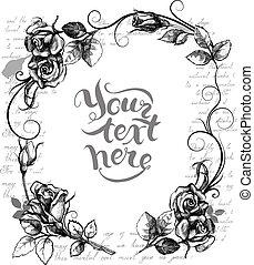 frame, met, rozen