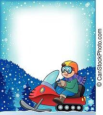 frame, met, snowmobile, thema, 1
