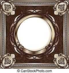 frame, metaal, ouderwetse