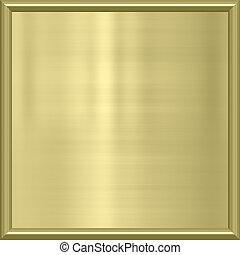 frame, metaal, toewijzen, gouden
