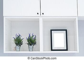 Frame mock up in modern home