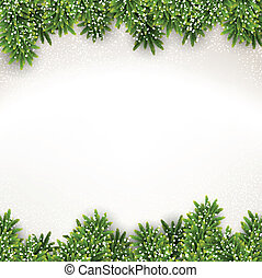 frame., navidad, abeto
