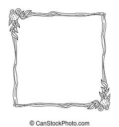frame, oceaan, themed