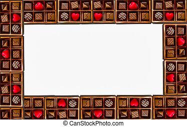 Frame of Assorted Chocolates