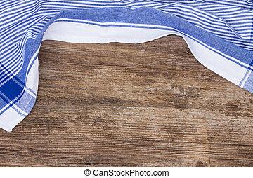 frame of  blue  napkin