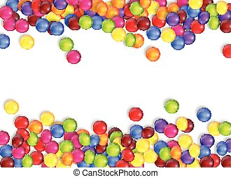 Frame of candies