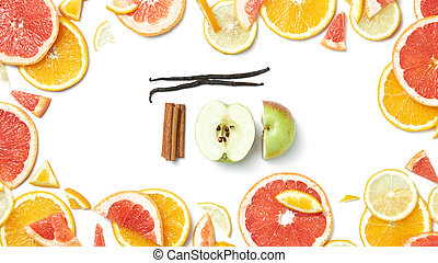 frame of citrus fruit