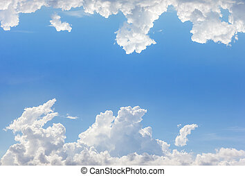 frame of clouds with blue sky background