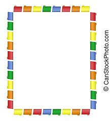 Frame of Colored File Folders