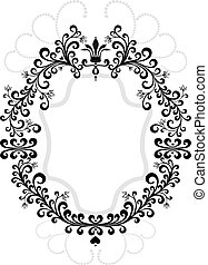 Frame of decorative ornament.