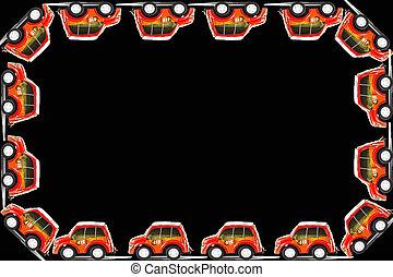 Frame of Fireman toys car