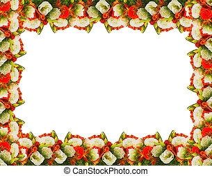 frame of flowers roses