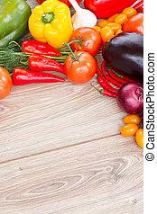 frame of  fresh ripe of vegetables