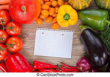 frame of fresh vegetables