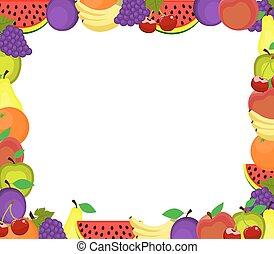 frame of fruits