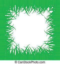 Frame of green grass -vector