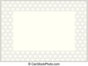 frame of grey pastel color soft and hearts shape for banner background and copy space white paper, heart shape on grey soft, heart shaped pastel for love card frame, heart shape symbolizes love