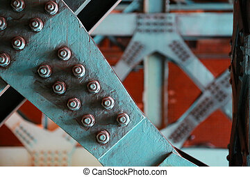 Frame of iron bridge