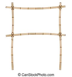 Frame of old bamboo sticks.