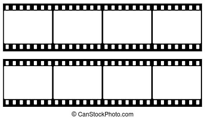 Frame of photographic film (seamless) isolated on white background