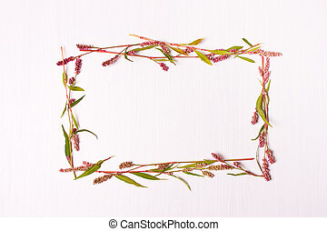 Frame of pink color for inscriptions