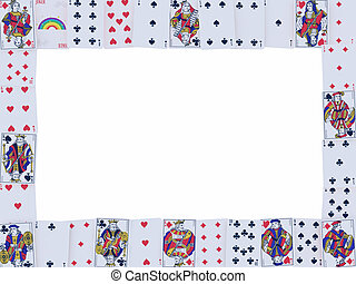 frame of playing cards