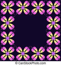 Frame of purple clover.