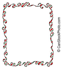 Frame of Red Ribbons and Bows
