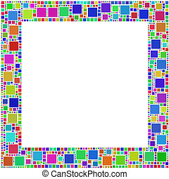 Frame of squares - The figure is composed by a mesh of...