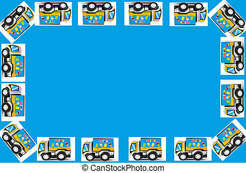 Frame of Toy cars