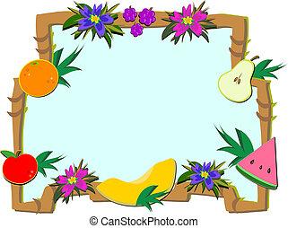 Frame of Tropical Fruit