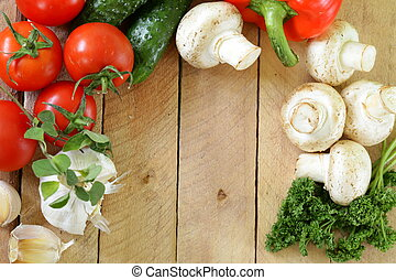 frame of vegetables