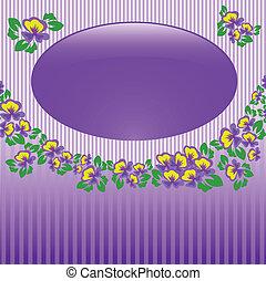 frame of violets