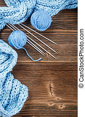 Frame of yarn balls
