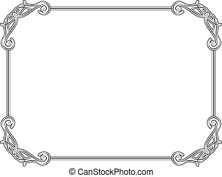 Frame - Old style black decorative frame, very easy to ...