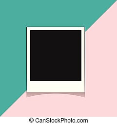 Frame on a two-color background