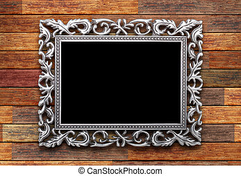 frame on a wooden background