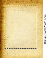 frame on old paper