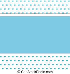 polka dot background - frame on polka dot background