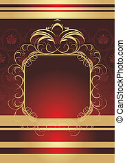 Frame on the decorative background