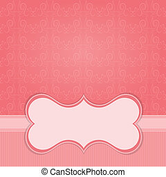 Frame on the paper background with design element