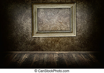 Frame on the wall.
