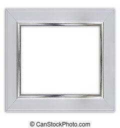 frame on white background